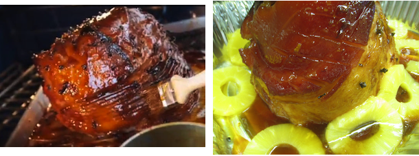 Christmas glazed ham recipe with pineapples