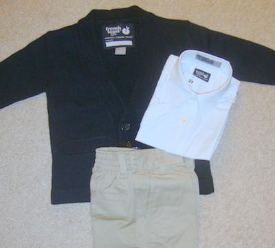 boy school clothes