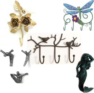 beautiful wall hooks decorative