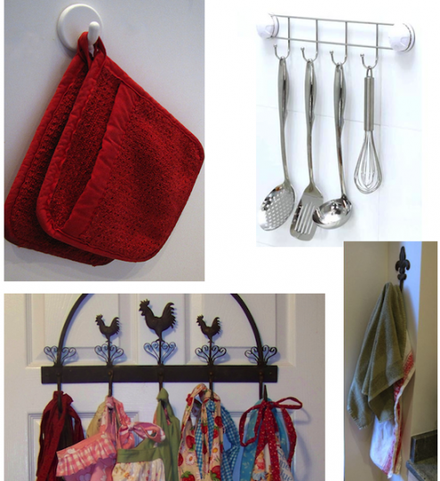 utensil oven mitt apron dish towel hook holder