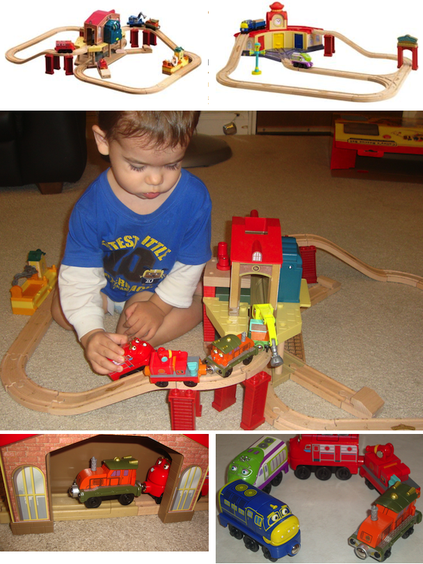 chuggington wooden railway calley's rescue set 2