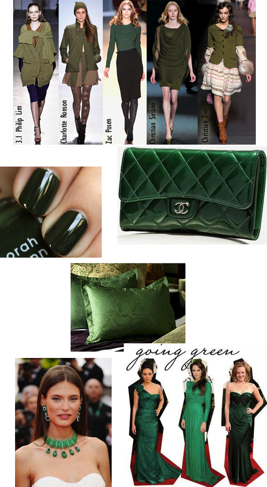 fall winter fashion color trend green penelopes oasis
