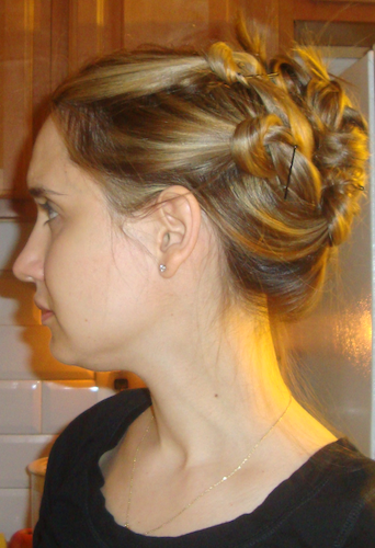 easy updo tutorial hair knots