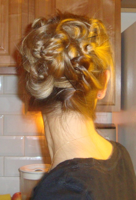 knotted updo beautiful hair tutorial