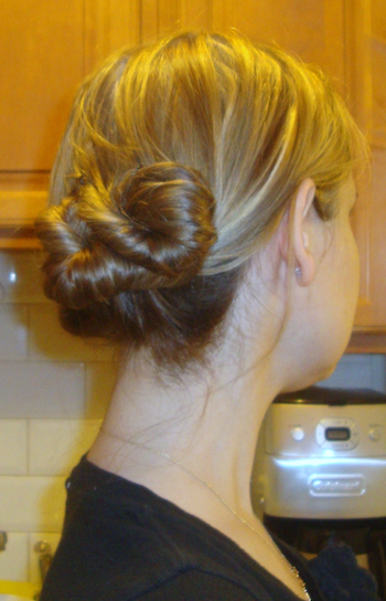 hairstyle how to twisted bun