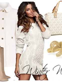 winter white beauty fashion