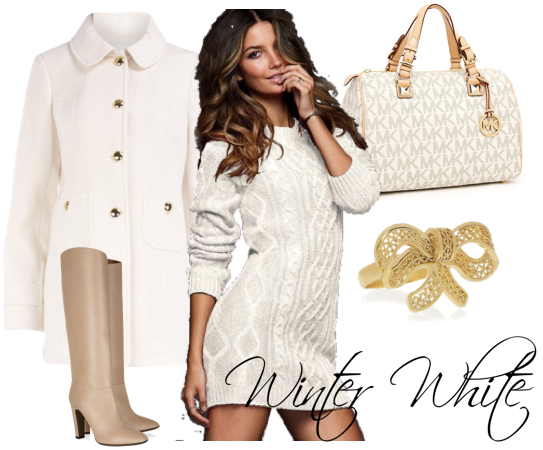 winter white beauty fashion