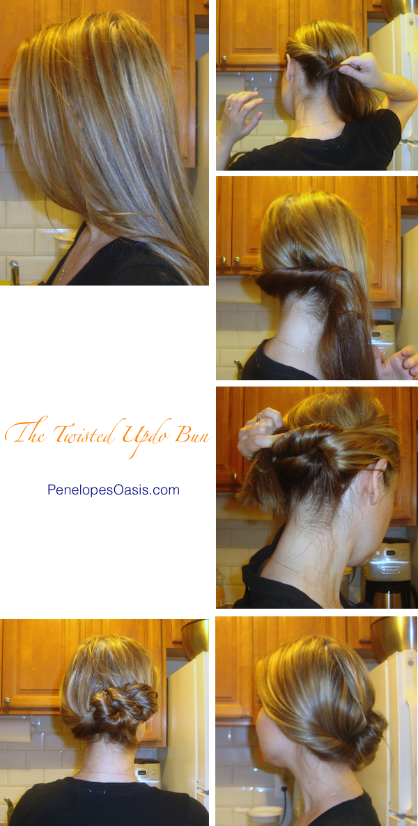 The Twisted Updo Hairstyle Tutorial 187 Penelopes Oasis