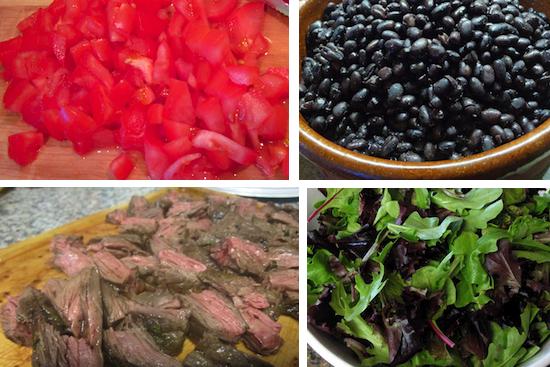 steak tostada salad ingredients