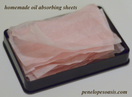 homemade oil absorbing sheets diy