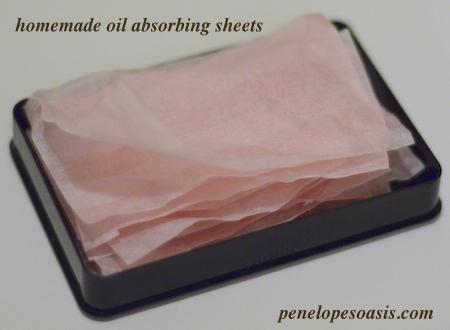homemade oil absorbing sheets diy