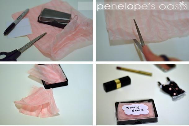 homemade oil absorbing sheets