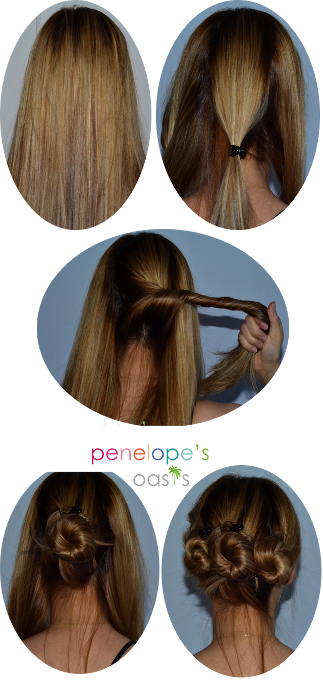 Triple Bun Twist Hair Tutorial #Beauty » Penelopes Oasis