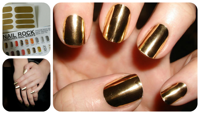 Gold Metallic Nails Beauty Tutorial