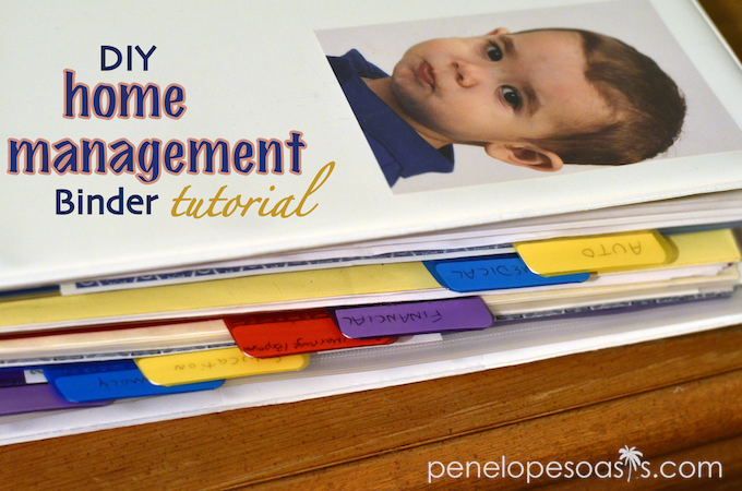 home management binder tutorial