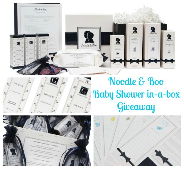 Noodle And Boo Baby Shower In A Box Give Away Babygifts Penelopes