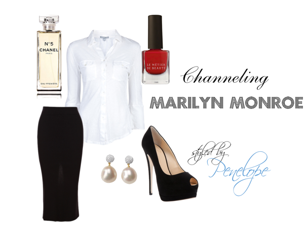marilyn monroe style fashion pencil skirt