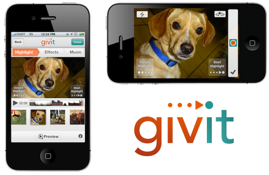 GIVIT iPhone video sharing app