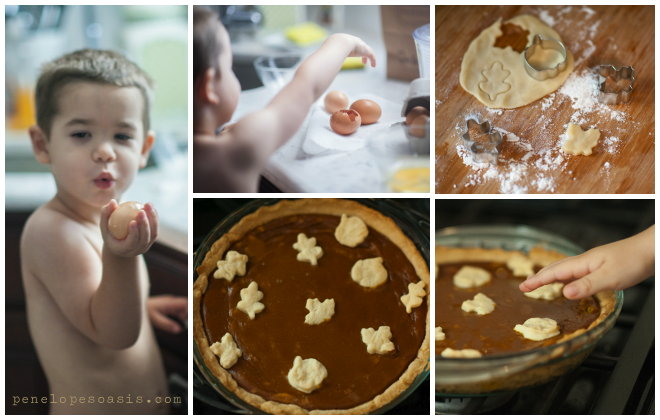 making pies with children