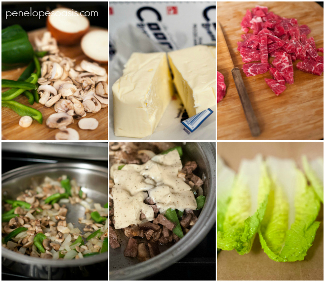 how to make healthy philly cheese steak lettuce wraps recipe