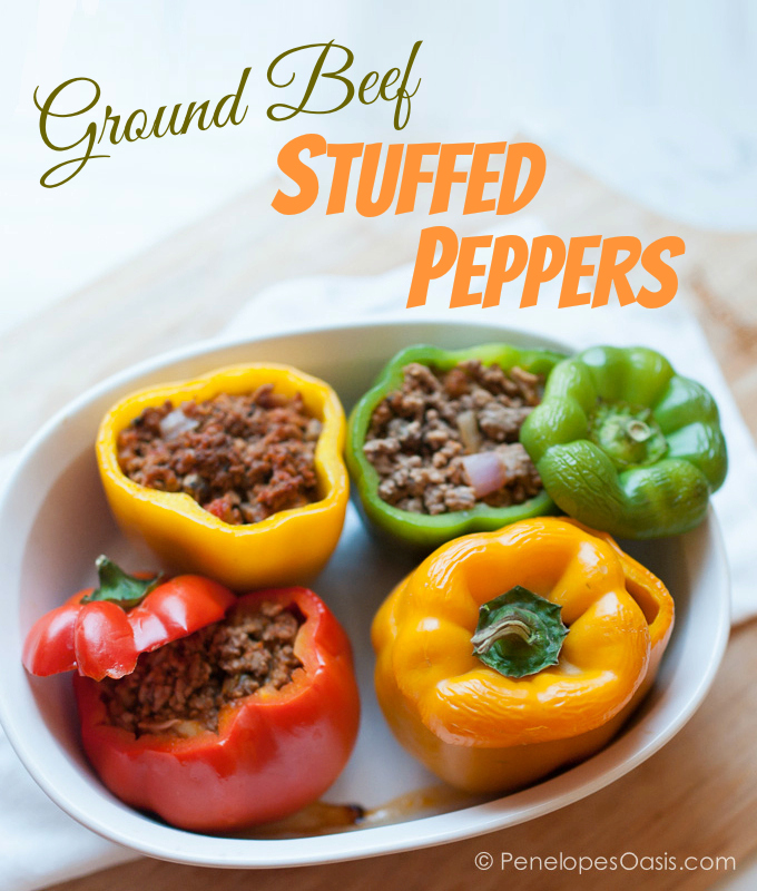 Easy Stuffed Peppers With Meat Sauce Recipe 187 Penelopes Oasis