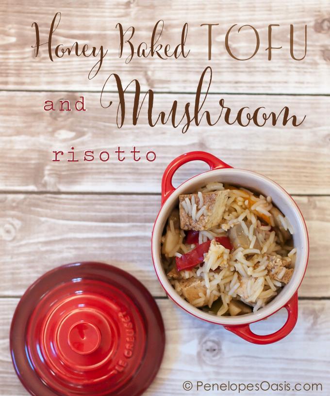 honey baked tofu mushroom risotto recipe