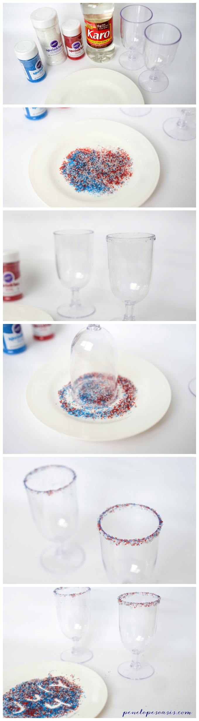 Create Sugar Rim Beverage Glass Sprinkles Craft