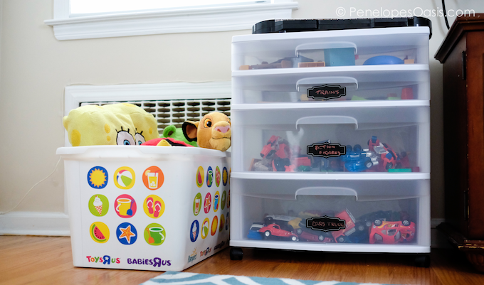 toys organized drawers and totes