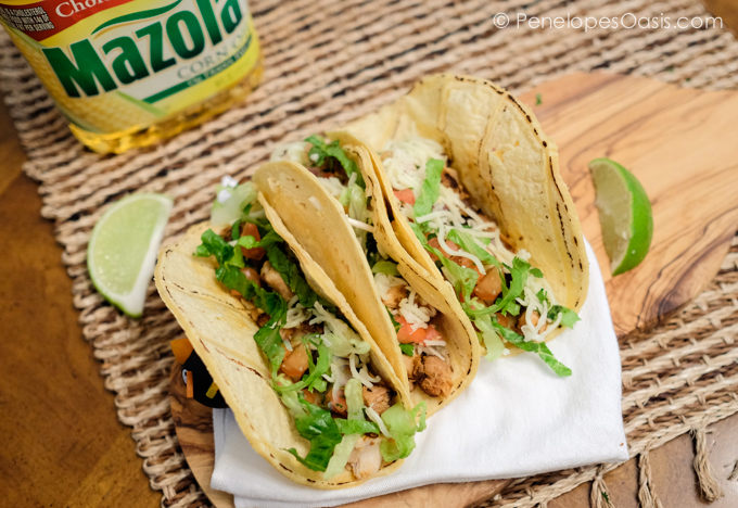 Slow Cooker Chicken Tinga Tacos Recipe #MazolaCornOil - Penelopes ...