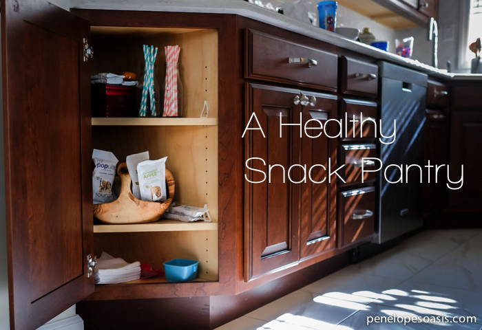 a healthy snack pantry
