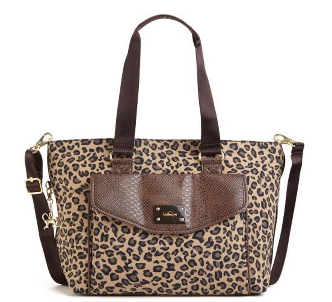 kipling leopard tote bag