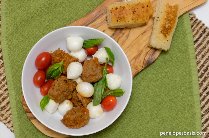 meatball caprese salad-21