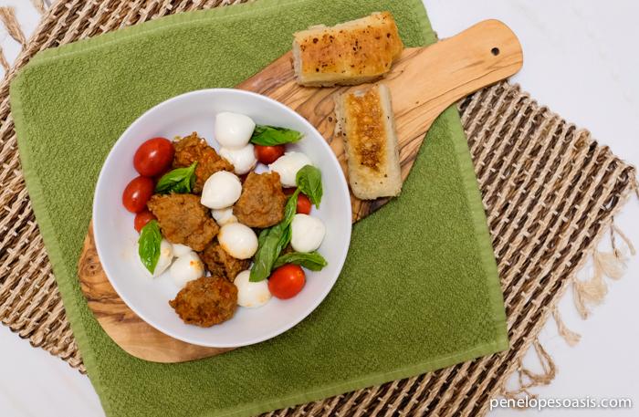 meatball caprese salad recipe