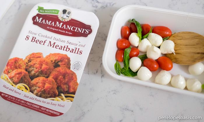 meatball caprese salad