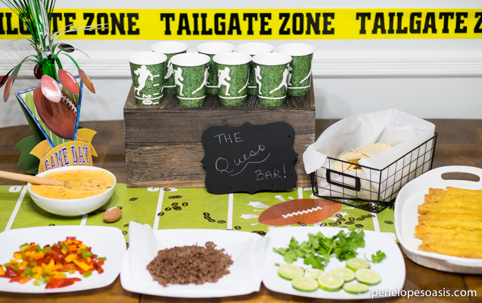 Football Tailgating Party Queso Bar