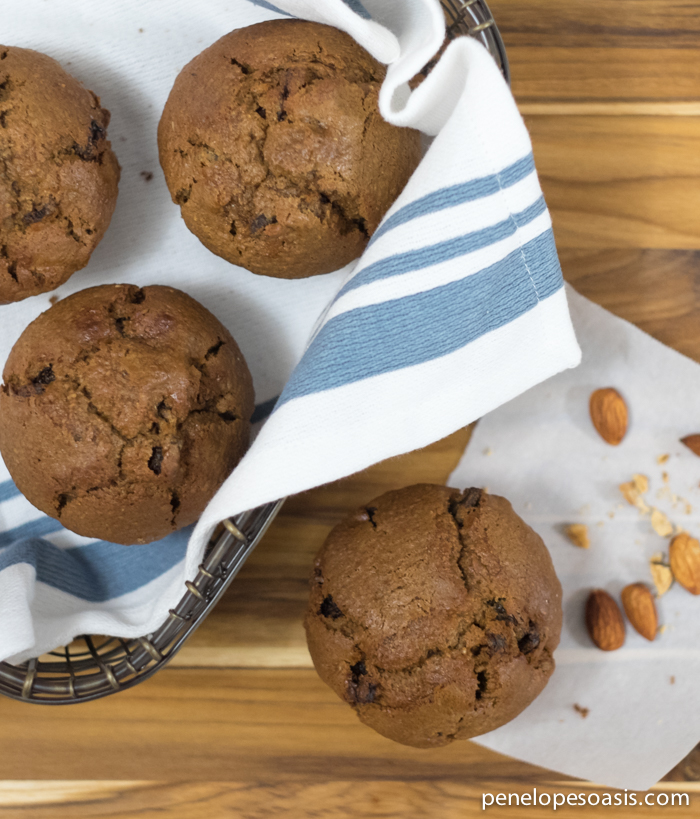 chocolate almond biscotti muffins recipe
