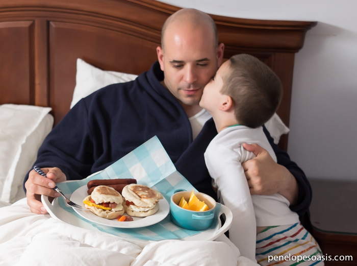 fathers day breakfast in bed #sausagefamily