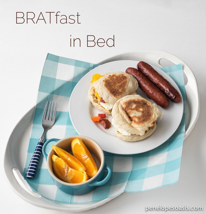 breakfast in bed for dad #SausageFamily