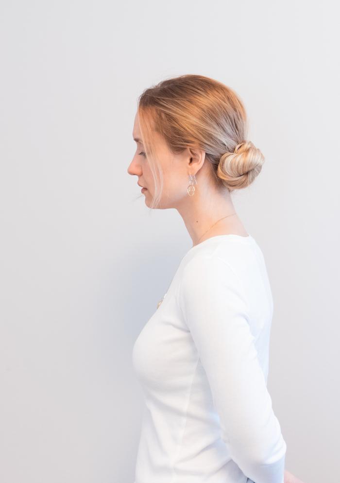 penelope guzman low side bun hairstyle hair tutorial