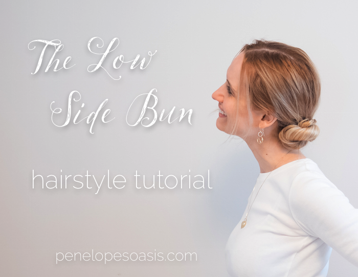 penelope guzman low side bun hairstyle tutorial