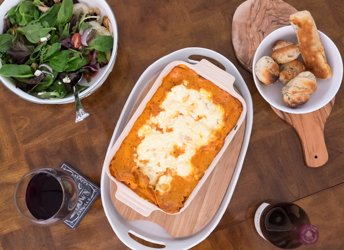 luscious rosa lasagna dinner party