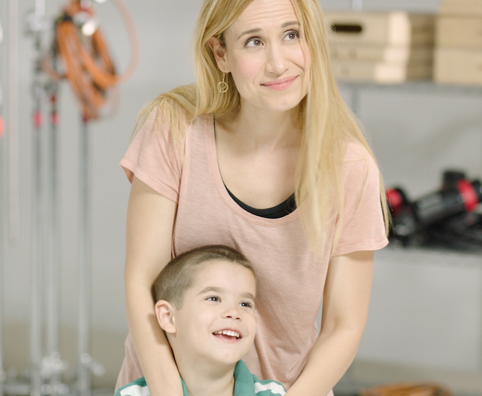 Penelope and Little Man Guzman On Set