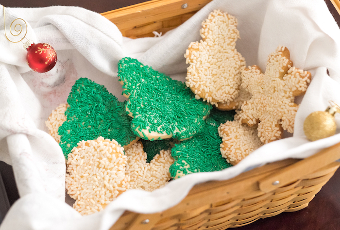 basket of sugar cookies