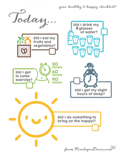daily resolutions reminder printable