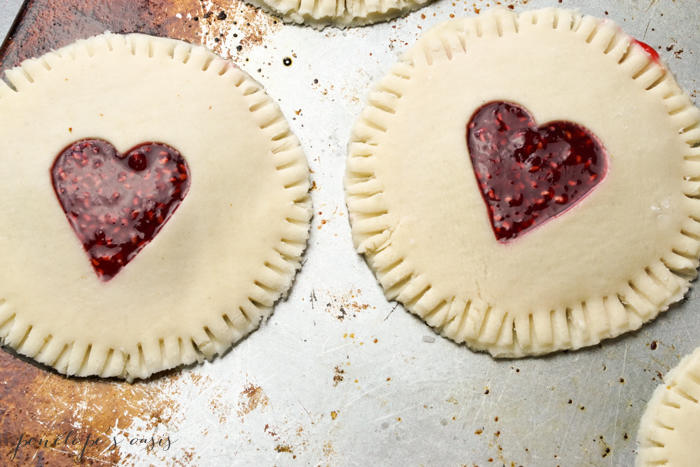 homemade raspberry hand pies