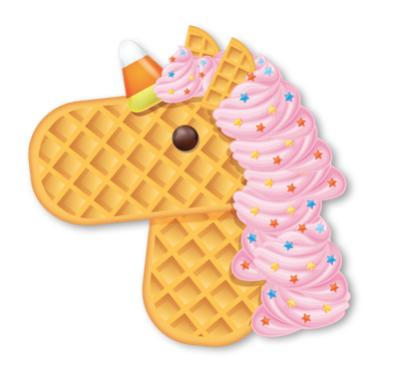 unicorn emoji eggo waffle