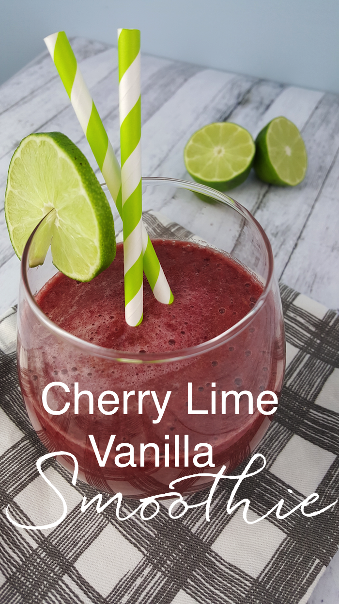 cherry lime vanilla smoothie