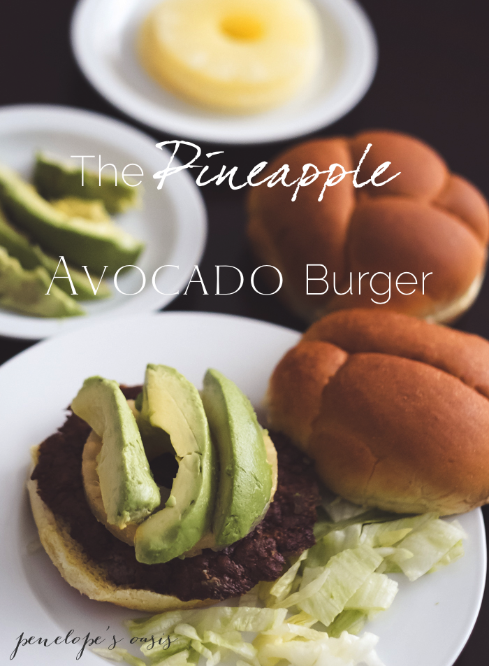 pineapple avocado burger