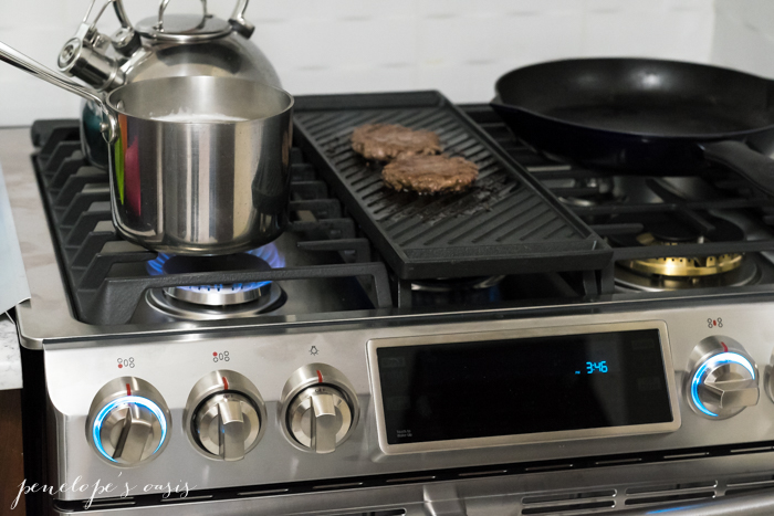 Cooking In The Kitchen With The Samsung Flex Duo Gas Range