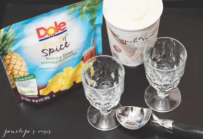 Dole Fruit n Spice with ice cream